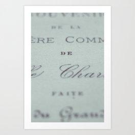 Fonts Art Print