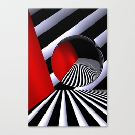 red white black -21- Canvas Print