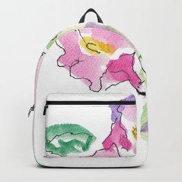 Pink Nasturtiums by artist John E. Backpack