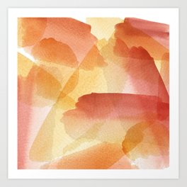 Fall earth tone abstract watercolor brushstrokes Art Print
