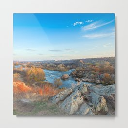 mountain landscape with Southern Bug river Metal Print