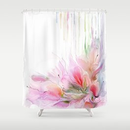 garden summer flowers  Shower Curtain
