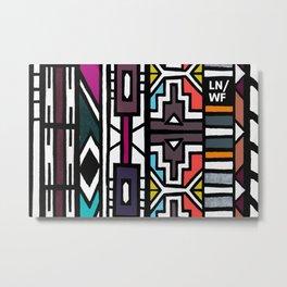 Ndebele Metal Print