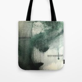 Last Kiss: a minimal, abstract watercolor piece in greens Tote Bag