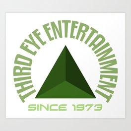 Third eye entertainment green Art Print