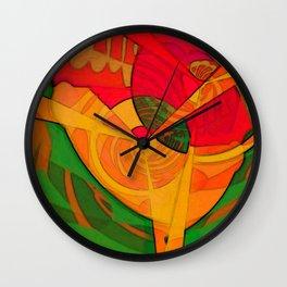 Tropical Farm Woman Wall Clock