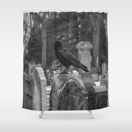 Crow In Shades Of Stone Shower Curtain