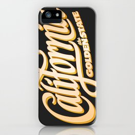 """The Golden State"" T-Shirt iPhone Case"