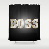 boss Shower Curtains featuring Boss by MG-Studio