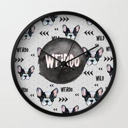 Weirdo frenchie Wall Clock