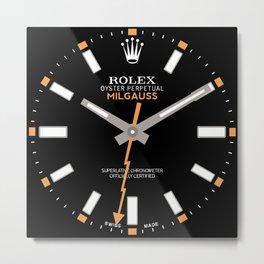 Rolex Milgauss - 116400 - Black Dial Metal Print