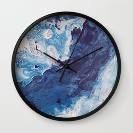 Restless Waters Blue Wall Clock