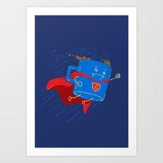 Super Coffee (Navy) Art Print