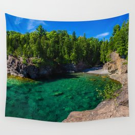 Green Beach Wall Tapestry