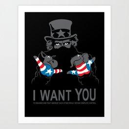 Uncle Scam Art Print