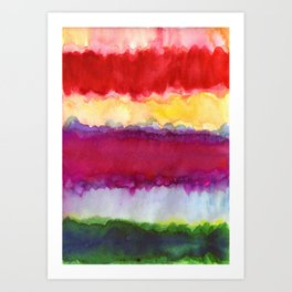 Cheerful Ombre Art Print