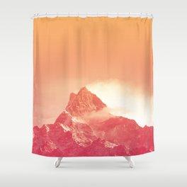 PEACHY PEAK Shower Curtain