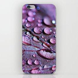 Dew Wet Lilac Leaf iPhone Skin