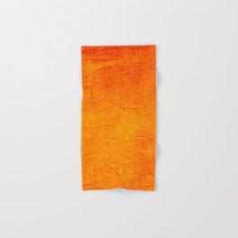 Orange Sunset Textured Acrylic Painting Hand & Bath Towel