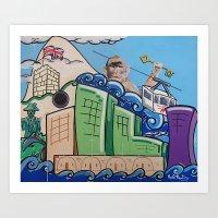 Gibraltar Keys Art Print