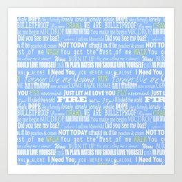 lyrics blue Art Print