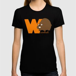 w for wombat T-shirt