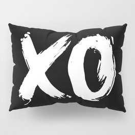 XO Hugs and Kisses white and black gift for her girlfriend xoxo bedroom art and home room wall decor Pillow Sham