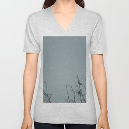 Bullfinches on a cold day Unisex V-Neck