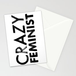 Crazy Feminist Stationery Cards