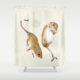 Harvest mice Shower Curtain