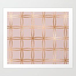 Glowing desires rose gold blush Art Print
