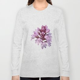 Pink Orchid Wildflower Long Sleeve T-shirt