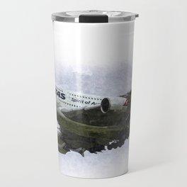 Qantas Airbus A380 art Travel Mug