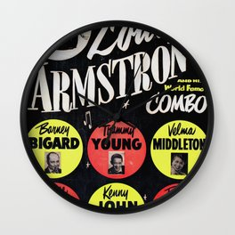 Louis Armstrong - Vintage Jazz Poster Wall Clock