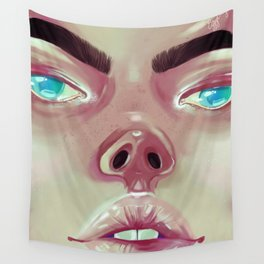 My eyes are up here Wall Tapestry