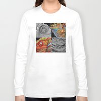 scales Long Sleeve T-shirts featuring Reptile Scales by Tim Jeffs Art
