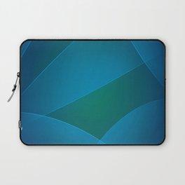 Venice Blue, Teal Blue & Deep Cerulean Colors Laptop Sleeve