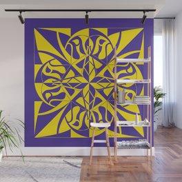 Think Mandala - Purple Yellow Wall Mural