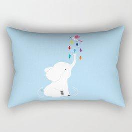 Baby elephant and bird Rectangular Pillow