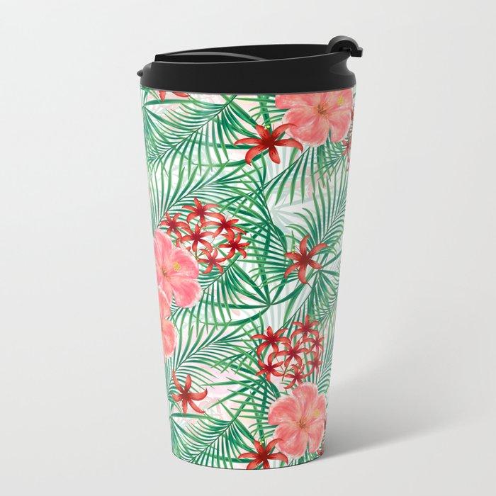 Tropical pattern. Metal Travel Mug