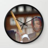 samurai Wall Clocks featuring Samurai by Premium
