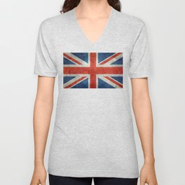 "UK British Union Jack flag ""Bright"" retro Unisex V-Neck"