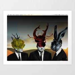 Die drei Minister Art Print