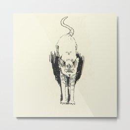 Scaredy Cat Metal Print