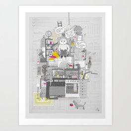 Crap Stuff Art Print
