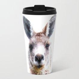 Kangaroo Portrait Travel Mug