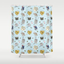 Trash Love Shower Curtain