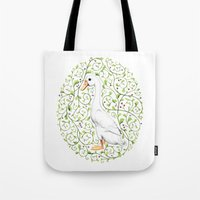 duck Tote Bags featuring Duck by Erik Krenz
