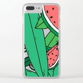 Watermelon bonanza Clear iPhone Case