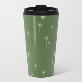 Poppy flowers on Kale Travel Mug
